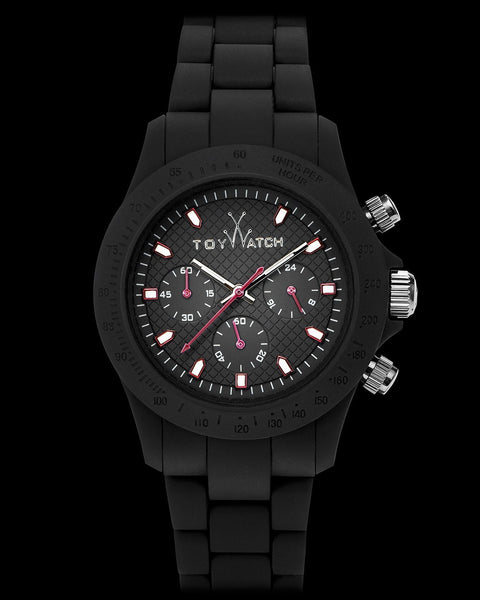 VELVETY CHRONO BLACK - ToyWatch