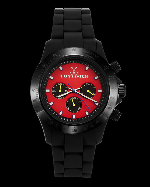 VELVETY CHRONO BLACK AND RED - ToyWatch