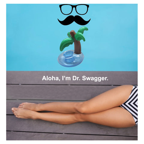 Dr. Swagger Inflatable Palm Island Pool Drink Holder