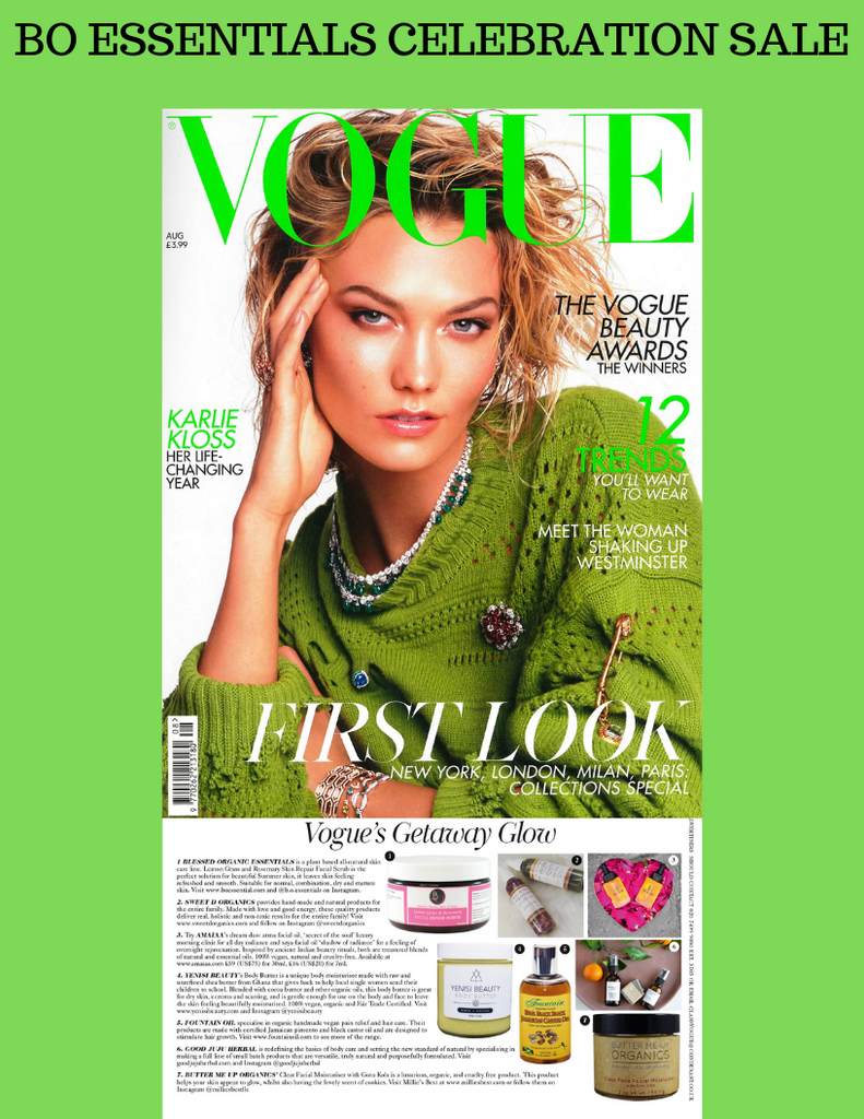 BO Essentials August Feature VOGUE Magazine!!!