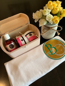 Blush Vintage Gift Box Set/Lemon Grass & Rosemary Skin Repair Collection