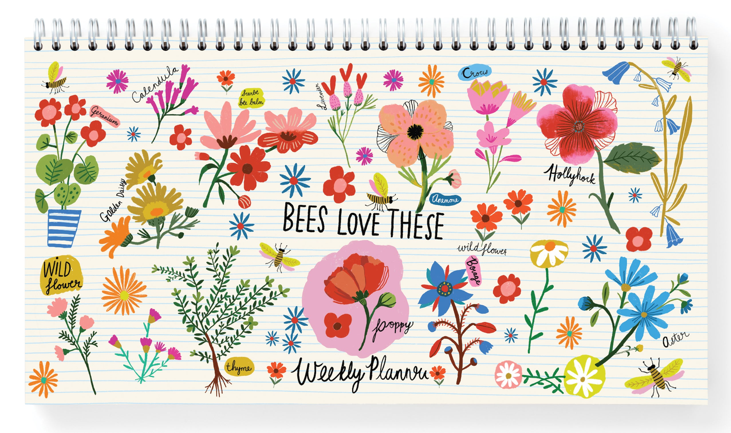 Bees love these Weekly Planner