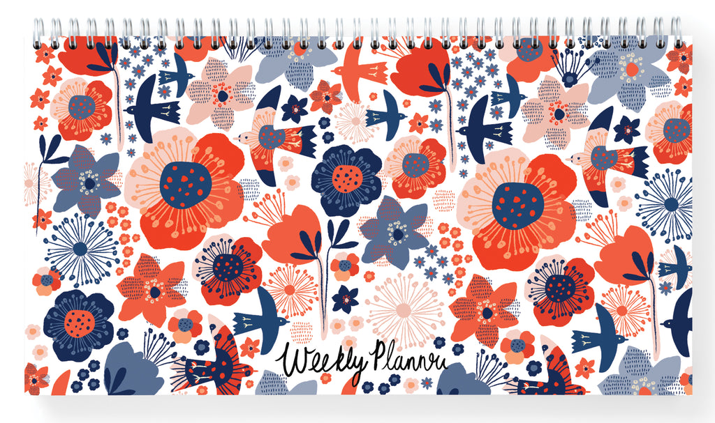 Birds and Flowers Weekly Planner