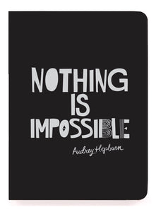 Nothing is impossible perfect bound notebook