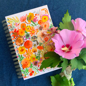 Flowers and Mushrooms Jumbo Journal