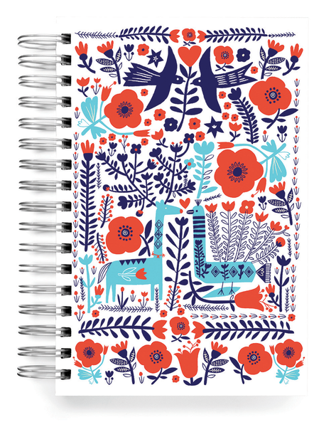 Ecojot Deer & Peacock Jumbo Journal