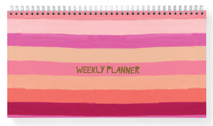 Watercolour stripe Weekly Planner