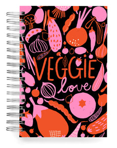Veggie love black Jumbo Journal