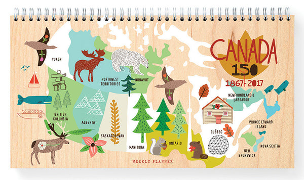 Canada map Weekly Planner