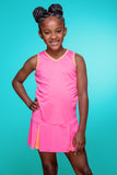 #Flamingo Beach Pink Dress - New! - Little Miss Tennis