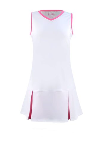 #Flamingo Beach White Dress - New! - Little Miss Tennis