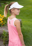 White Visor (Pink) - Little Miss Tennis