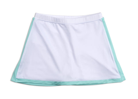 Everyday Club Skirt Blue Border - Little Miss Tennis