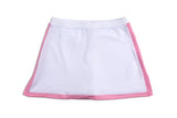 Everyday Club Skirt Pink Border - Little Miss Tennis