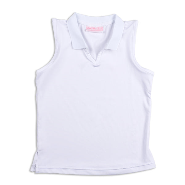 Everyday Club Top White - 3/4, XL - Little Miss Tennis