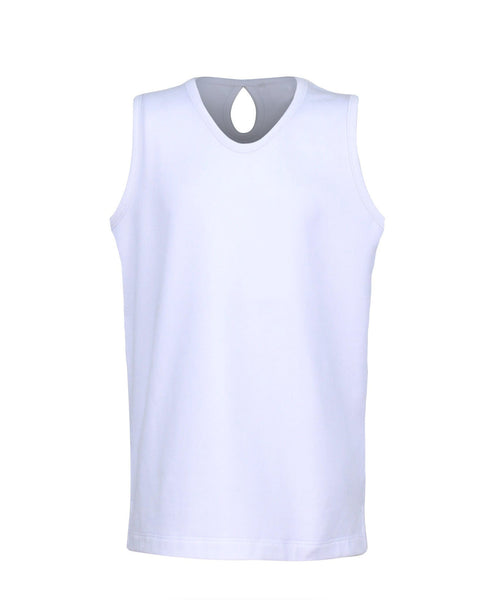 #Santorini Island Tank White - Little Miss Tennis