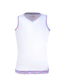 Hula in Hawaii Tank White - XL - Little Miss Tennis