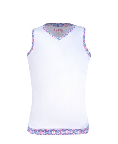 #Hula in Hawaii Tank White - Little Miss Tennis