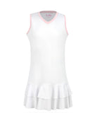 #Cotton Candy White Dress - Little Miss Tennis