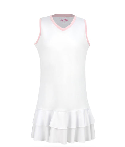 #Cotton Candy White Dress - New! - Little Miss Tennis