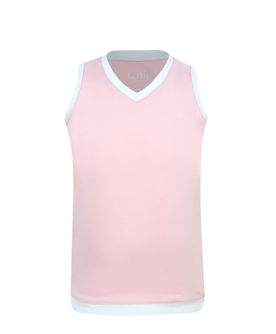 #Cotton Candy Tank Pink - Little Miss Tennis