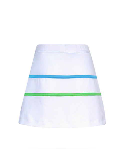 #Paradise Palms White Stripe Skirt - New! - Little Miss Tennis