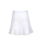 #Cotton Candy Ruffle White Skirt - Little Miss Tennis