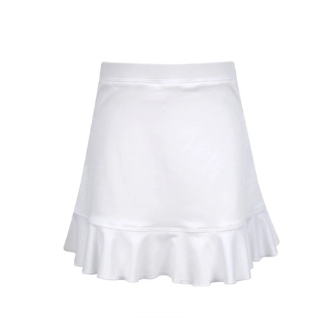 #Cotton Candy Ruffle White Skirt - New! - Little Miss Tennis