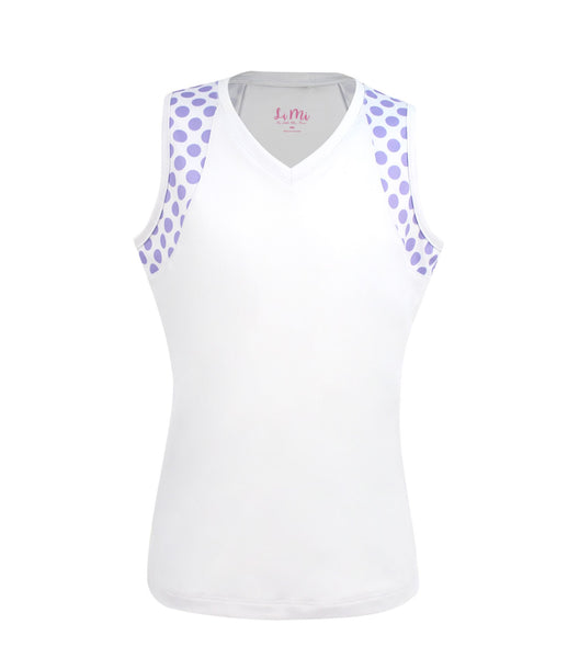 #Pretty In Provence White Tank - Little Miss Tennis