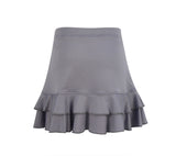 #Cotton Candy Ruffle Gray Skirt - Little Miss Tennis