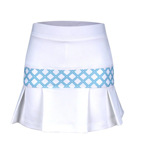 #Sunset in Sydney Pleated Skirt White - New! - Little Miss Tennis