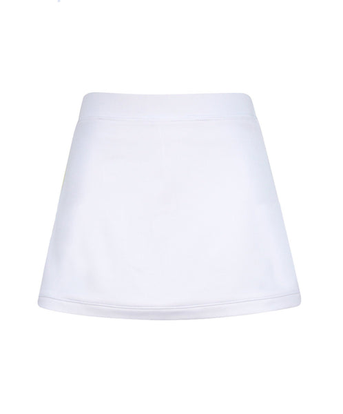 #Santorini Border Skirt White - Little Miss Tennis