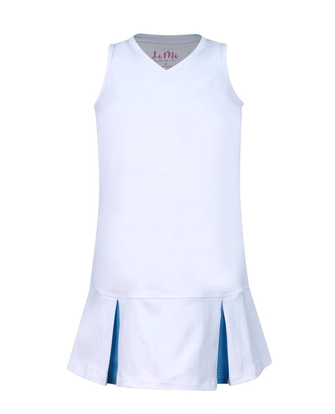 #Paradise Palms White Dress - MD - Little Miss Tennis