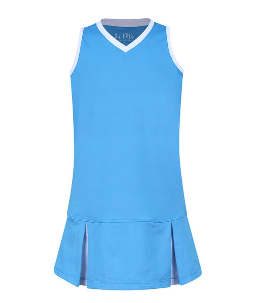 Paradise Palms Aqua Dress - Little Miss Tennis
