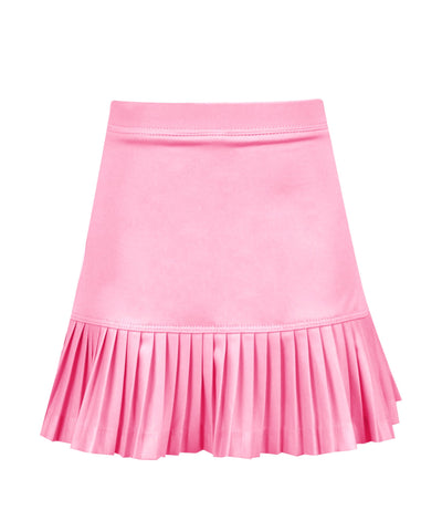 #A Bubble Gum Mini Pleat Skirt - New!