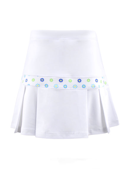Chamonix Blossom Preppy White Skirt - New! - Little Miss Tennis