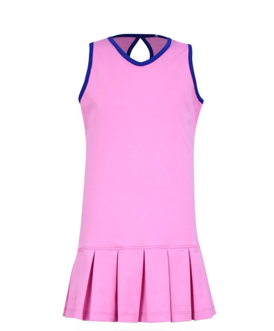 Cape May Dress Pink - 3/4, LG - Little Miss Tennis