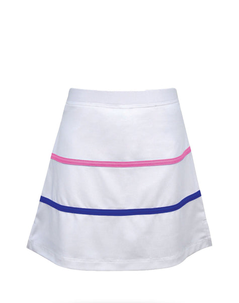 Cape May Skirt White Stripes - Little Miss Tennis