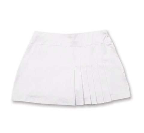 Everyday Club Skirt White - Little Miss Tennis