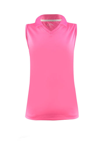 #Flamingo Beach Pink Collar Tank - New! - Little Miss Tennis