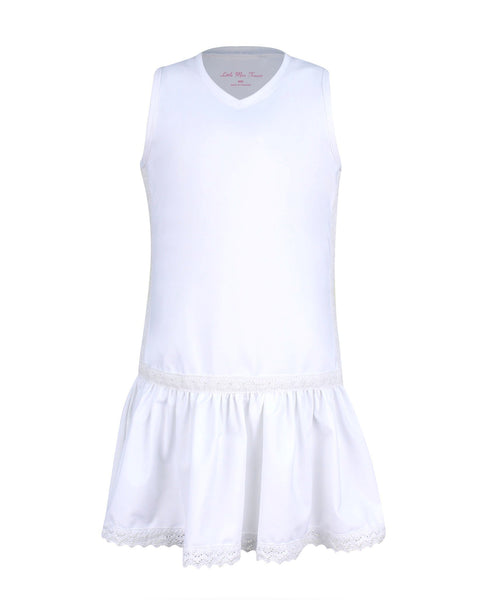 #Hampton Court Dress White - New! S, M, L - Little Miss Tennis