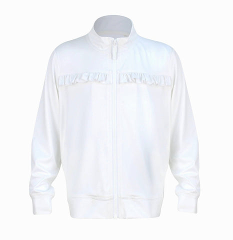 #Hampton Court White Jacket - Little Miss Tennis