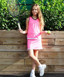 #Midnight in Malibu Skirt Pink - Little Miss Tennis