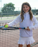 #Pretty in Provence Half-Zip Pullover - Little Miss Tennis