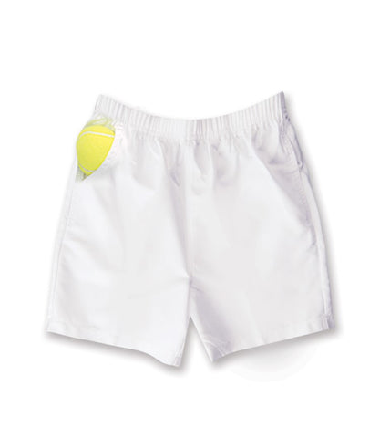 Boys White Shorts - 711 - Little Miss Tennis