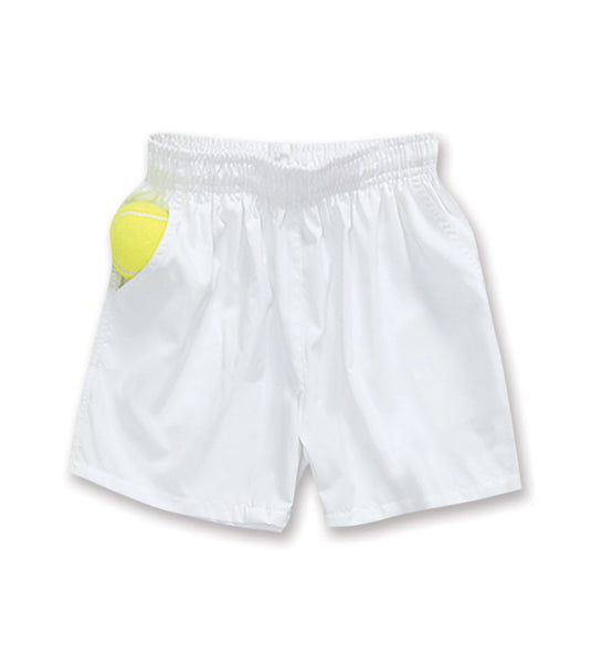 Boys White Shorts - 007 - Little Miss Tennis