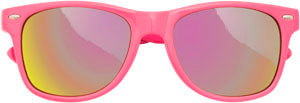 Sunglasses: Girls 5-8, Retro Pink - Little Miss Tennis