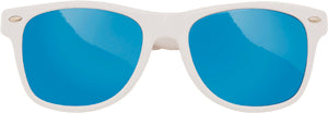 Sunglasses: Girls 5-8, Retro White - Little Miss Tennis