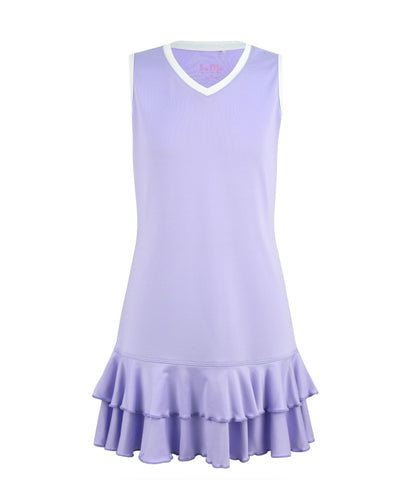 #A Lilac Lane Ruffle Dress - New!