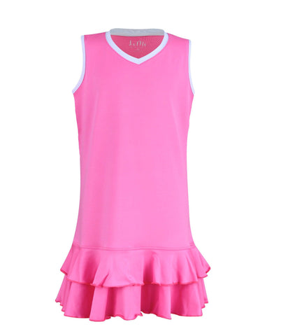 #Midnight in Malibu Dress Pink - New! - Little Miss Tennis